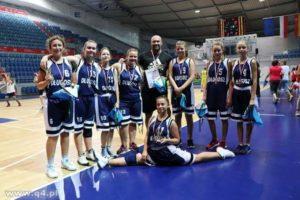 Imiejsce drużyny dziewcząt wturnieju koszykówki