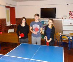 Turniej tenisa stołowego w internacie