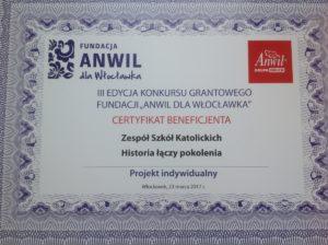 """Grant Fundacji Anwil dla Włocławka dla """"Długosza"""""""
