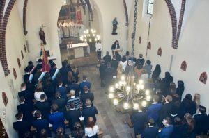 Msza Święta wksościele św.Witalisa nazakończenie roku szkolnego maturzystów