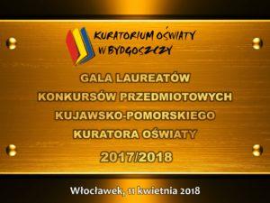 Gala Laureatów Konkursów Przedmiotowych Kuratora Oświaty 2017/2018. Długosz – szkołą znajwyższą ilością laureatów wmieście inaIII miejscu wwojewództwie.