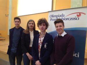 Nasi maturzyści uczestnikami Olimpiady Przedsiębiorczości