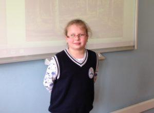 Czwartoklasistka szkoły podstawowej laureatką OLIMPUSA z przyrody