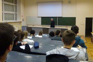 Licealiści ponownie na wykładzie technologicznym Politechniki Warszawskiej