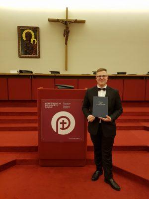 Stypendium im.ks.bp. Romana Andrzejewskiego dla Igora Deptulskiego zIIB LO
