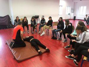 Lekcja pierwszej pomocy w klasie 7bSP
