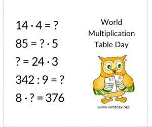 Światowy Dzień Tabliczki Mnożenia wDługoszu
