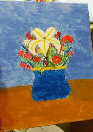 Kompozycje kwiatowe poświęcone naszym nauczycielom