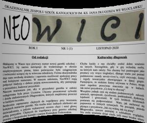 Pierwszy numer nowej gazetki szkolnej – NeoWICI