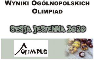 """Jedenaścioro laureatów sesji jesiennej Ogólnopolskiej Olimpiady """"Olimpus"""" z Chemii"""