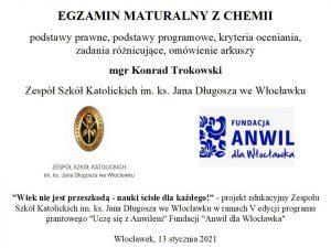 """""""Wiek niejest przeszkodą – nauki ścisłe dla każdego"""" chemiczny dzień trzeci"""