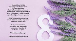 Życzenia z okazji Międzynarodowego Dnia Kobiet