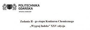 """Ośmioro finalistów Konkursu Chemicznego """"Wygraj indeks"""" Politechniki Gdańskiej"""
